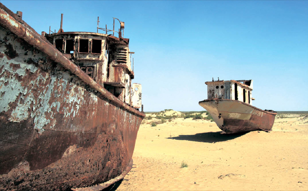 [Around the world] The tragedy of Aral Sea A lake turns into